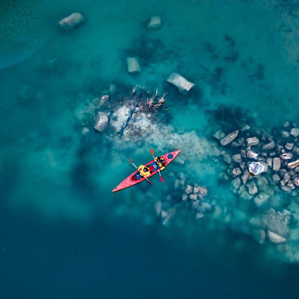 Kayak vue aérienne